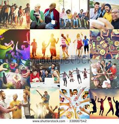 Diverse Ethnic Unity Party Togetherness Happiness Concept - stock photo