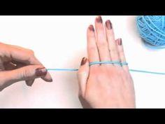 ▶ Left Hand Beginner Crochet: #3 How to Hold Yarn for Crochet - YouTube