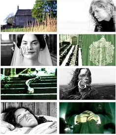 Merope Gaunt, (c. 1907 – 31 December, 1926) was a pure-blood witch, daughter of Marvolo Gaunt, & sister of Morfin. She was a direct descendant of Salazar Slytherin and a Parselmouth. Merope lived in a shack with her father & brother, who mentally & physically abused her. She grew to have an obsessive love for Tom Riddle, a handsome, wealthy Muggle. When both her father & brother were imprisoned, she bewitched & married Tom. Merope ended up dying at an orphanage, soon after bearing their son.