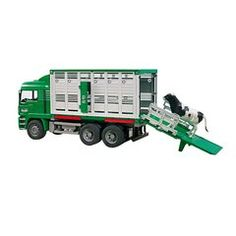 Bruder 1:16 Man Cattle Transporter With Cow