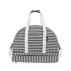 The Weekender Bag in Stripe by Kate Spade Saturday.  Wouldn't this be fun to duplicate with a monogram.