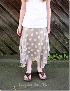 knit skirt tutorial with serger