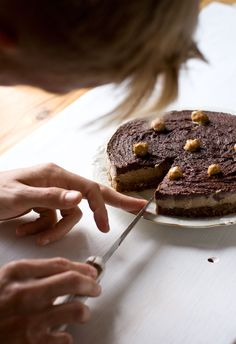 Vegan Peanutbutter-chocolate taart