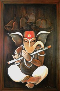 ganesh More Shiva Art, Ganesha Art, Krishna Art, Hindu Art, Shri Ganesh, Shiva Shakti, Indian Gods, Indian Art, Lord Ganesha Paintings