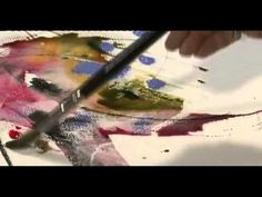 Breaking The Rules of Watercolour with Shirley Trevena - Town House Films - Jackson's Art Supplies    Again, in this watercolour demonstration, Shirley Trevena is using a lot more water than I had imagined