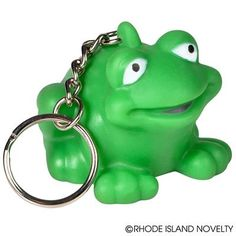 This cute little frog is an adorable way to dress up your keychain. Frogs symbolize healing, rebirth, and opportunity, which makes it a great gift for someone taking on new challenges in life. #rubber #frog #froggy #frogger #Animals #Keychains #Students #Prizes #BacktoSchool #Teachers #SchoolYear #Teaching #Classroom