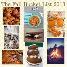 The Ever Popular Fall Bucket List...2013 Edition
