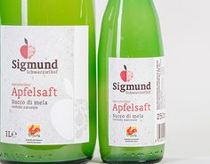 "Check out new work on my @Behance portfolio: ""SIGMUND APFELSAFT – Packaging…"
