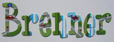Custom hand painted wooden letters - transportation theme zoom zoom... on Etsy, $22.69 CAD