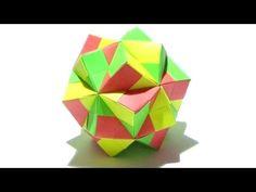 How To Make An Origami Two Thirds Sonobe Icosahedron (Meenakshi Mukerji) - YouTube