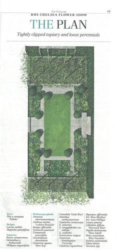 Plan of the Telegraph Garden, with Plant List. Image courtesy of The Telegraph.