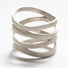 circle loop sterling silver ring. $120.00, via Etsy.