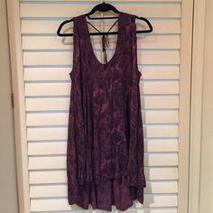Paisley boho dress Loose fitting, with a small open back Ecote Dresses Mini