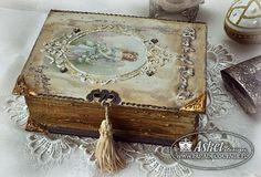 pudełko-książka decoupage