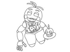 funtime freddy fnaf coloring pages sienna board pinterest fnaf