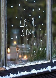 Christmas window decoration - great ideas again! - Christmas window decoration – great ideas again! Christmas Makes, Merry Little Christmas, Noel Christmas, Christmas Is Coming, All Things Christmas, Winter Christmas, Christmas Windows, Simple Christmas, Hygge Christmas