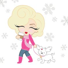 Dashing through the snow with MAF! #MiniMarilyn