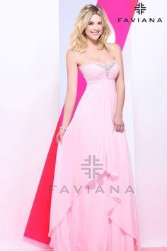 Ashley Benson, Faviana pink dress