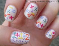 Back to School Nail Art. Aww! These! Are sooooo adorable! -Hailey