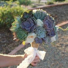 succulent wedding cuttings bouquet diy decor
