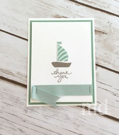 Stamping Together At Monika's Place – Sharing my Creativity with You - SU - Swirly Bird - mini sailboat card