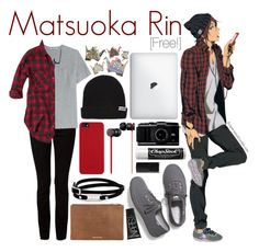 """Mastuoka Rin [Free!]"" by anggieputeri on Polyvore"