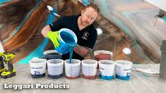 Use Epoxy To Coat Existing Countertops To Make Them Look Like Real Stone...
