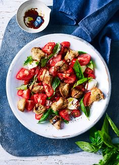 How to make a caprese salad using leftover hot cross buns as croutons!