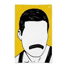 'Freddie Mercury' Tea Towel by Bold & Noble £10