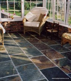 Rustic Multicolour Slate Flooring, Outdoor Furniture Sets, Outdoor Decor, Wall Tiles, Avocado, Chinese, Mint, Patio, Rustic