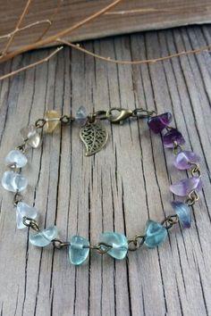 Items similar to Gemstone bracelet Rainbow fluorite jewelry Gifts for mom For girlfriend Womens gift Stone bracelet Women bracelets Multicolor bracelet on Etsy Gemstone Bracelets, Handmade Bracelets, Gemstone Jewelry, Beaded Jewelry, Copper Bracelet, Jewelry Findings, Jewelry Gifts, Jewelry Accessories, Jewelry Design