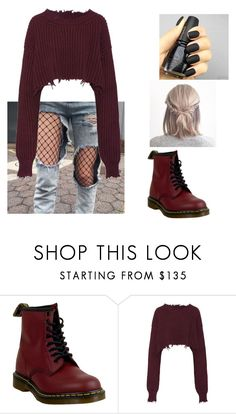 """""""Untitled #516"""" by coutobeatriz ❤ liked on Polyvore featuring Dr. Martens and Unravel"""