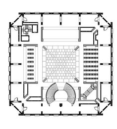 AD Classics: Exeter Library (Class of 1945 Library),Ground Floor Plan