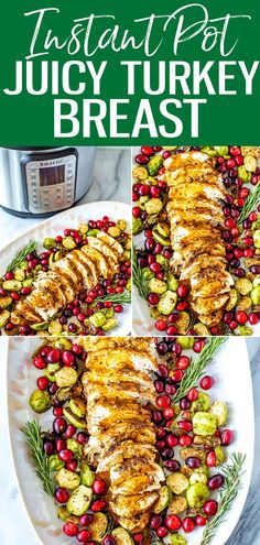 This is the JUICIEST Instant Pot Turkey Breast, and you can make gravy from the drippings right in the same pot within 30 minutes. #instantpot #turkeybreast Whole Food Recipes, Healthy Recipes, Potato Onion, Meal Prep Bowls, 30 Minute Meals, Cooking Turkey, Turkey Breast, Pressure Cooking