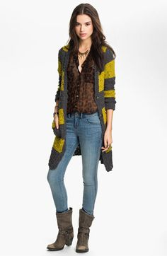 Free People Stripe Bouclé Cardigan available at #Nordstrom