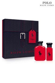 7637690335d3 Mens Ralph Lauren Man Red Eau De Toilette men s aftershave Christmas Gift  Set - Red