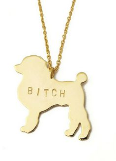 BITCH Please Necklace - Metal Sugar Jewelry