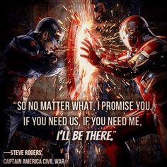 Captain America Civil War Steve's Finest Quote