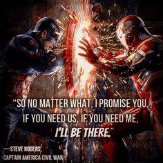 Captain America Civil War Steve's Finest Quote