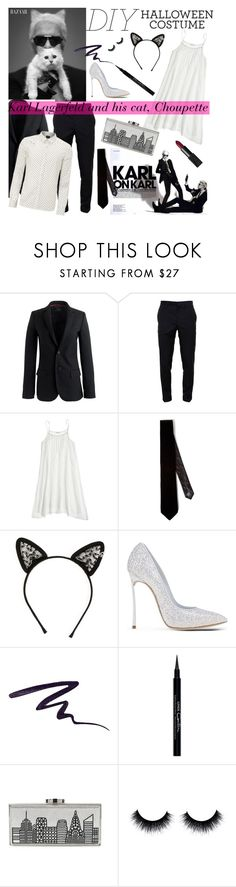"""DIY Halloween Costume"" by gorgeous-stacy ❤ liked on Polyvore featuring Lagerfeld, Karl Lagerfeld, J.Crew, Givenchy, Scotch & Soda, CP Shades, Yves Saint Laurent, Maison Michel, Casadei and Stila"