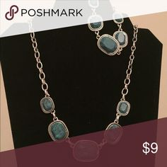 Silver & Turquoise Necklace & Bracelet Silver & Turquoise Necklace & Bracelet   Beautiful Set! Jewelry Necklaces