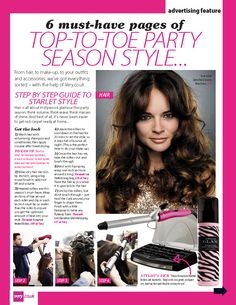 Party season style shot by Daniel Kennedy for Celebs on Sunday magazine. Hair by Jason Crozier of CrozNest in residence at No74 Hair & Beauty London.