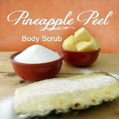 Paula Parrish: DIY Pineapple Peel Body Scrub