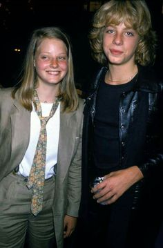"Jodie Foster and teen idol Leif Garrett at the ""Grease party"" in 1978"