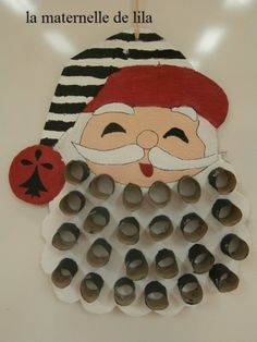 PB282147 Childrens Christmas Crafts, Kids Christmas, Vintage Christmas, Advent Calenders, Diy Advent Calendar, Diy And Crafts, Crafts For Kids, Toilet Paper Roll Crafts, Christmas Decorations