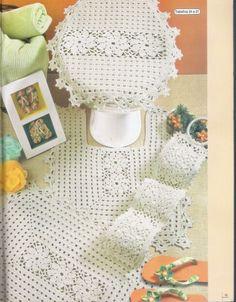 images attach c 3 75 141 Crochet Doily Rug, Crochet Squares, Love Crochet, Beautiful Crochet, Crochet Baby, Knit Crochet, Crochet Decoration, Crochet Home Decor, Crochet Kitchen