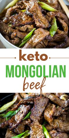 Keto Low Carb Mongolian Beef is a healthy remake of a PF Chang's classic! this healthy low carb version has no added sugar but tastes naturally sweet! Beef Cube Steak Recipes, Beef Cubed Steak, Stew Meat Recipes, Easy Meat Recipes, Healthy Low Carb Recipes, Lunch Recipes, Keto Recipes, Dinner Recipes, Dinner Ideas
