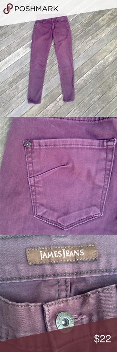 James Jeans size 26 straight leg pants. These brown, high class bottoms work the room in the office or on a night out. They are well fitted with 98% cotton and 2% Lycra to give them that extra stretch. James Jeans Pants Skinny