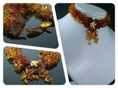 "Collar de ambar baltico "" Flor""   35gr. l(argo 36-39cm)  29.75€"
