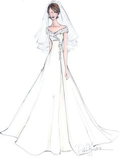 Custom Wedding Gown Illustration FRONTAL by IllustrativeMoments, $180.00 Wedding Dress Illustrations, Wedding Dress Sketches, Dress Design Sketches, Fashion Design Sketches, Fashion Drawings, Bridal Gowns, Wedding Gowns, Fashion Illustration Sketches, Dress Drawing